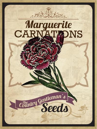 Vintage Carnation Seed Packet--Giclee Print