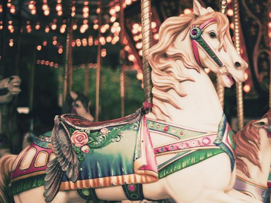 Vintage Carousel Horse-Andrekart Photography-Photographic Print