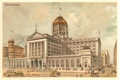Vintage Chicago Post Office--Art Print