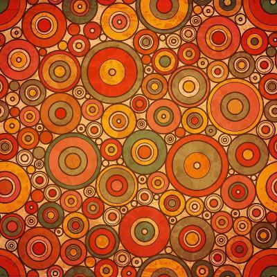 Vintage Circle Pattern-Yaviki-Art Print