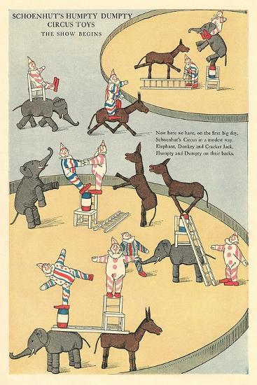 Vintage Circus Toys--Art Print