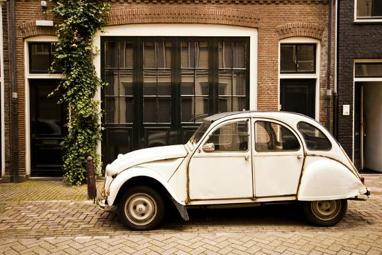 Vintage Citroen on a Street in Amsterdam, Netherlands-Carlo Acenas-Photographic Print