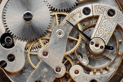 Vintage Clock Machinery-MIGUEL GARCIA SAAVED-Photographic Print