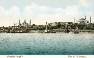 Vintage Constantinople Skyline, Turkey