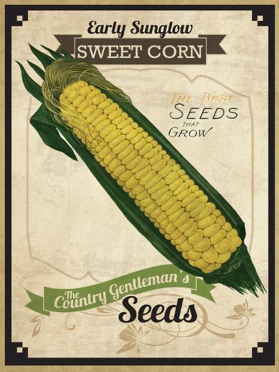 Vintage Corn Seed Packet--Giclee Print
