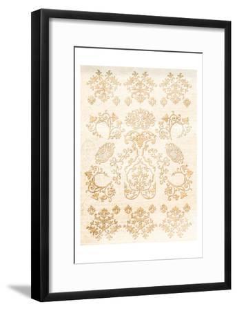 Vintage Cream Pattern Mate-Jace Grey-Framed Art Print