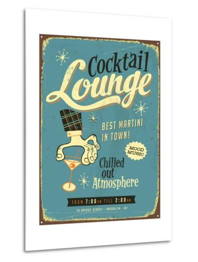Vintage Design -  Cocktail Lounge-Real Callahan-Metal Print