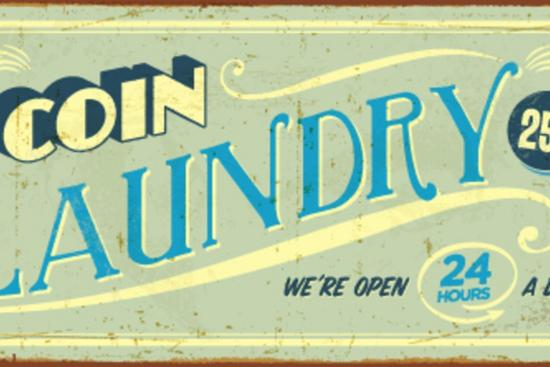 Vintage Design - Coin Laundry Art Print by Real Callahan | Art com