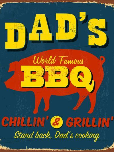 Vintage Design -  Dad's BBQ-Real Callahan-Photographic Print