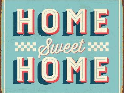 Vintage Design -  Home Sweet Home-Real Callahan-Art Print