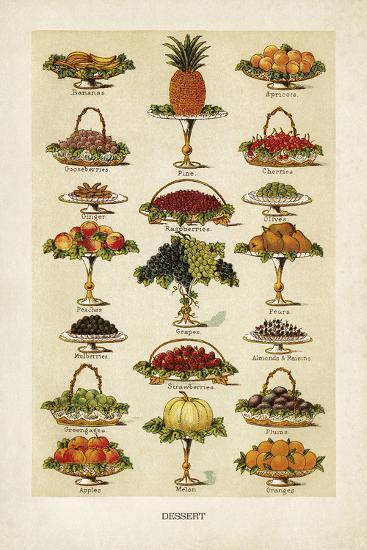 Vintage Dessert-The Vintage Collection-Giclee Print