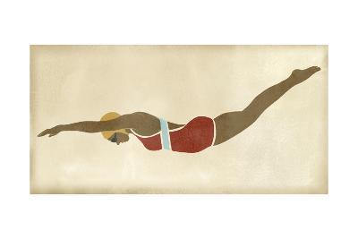 Vintage Diver II-June Vess-Art Print