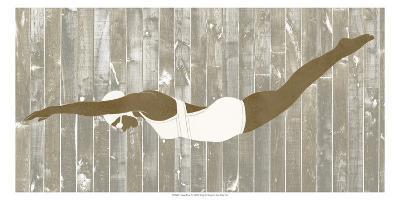 Vintage Diver IV-June Erica Vess-Art Print