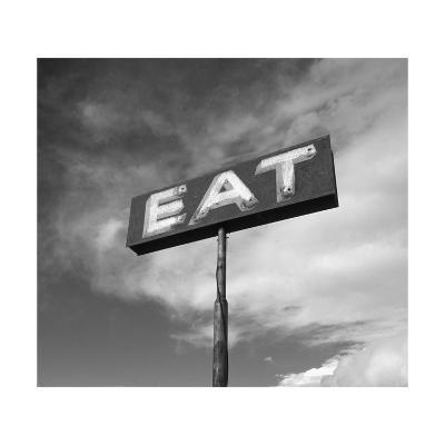 "Vintage ""Eat"" Restaurant Sign-Aaron Horowitz-Photographic Print"