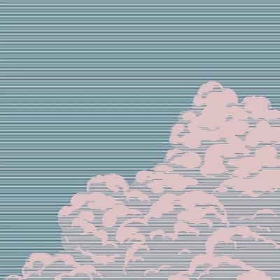 Vintage Engraving Cloud- Art-generator-Art Print