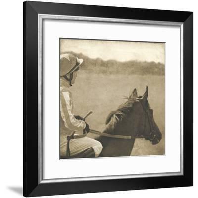 Vintage Equestrian - Wait--Framed Giclee Print