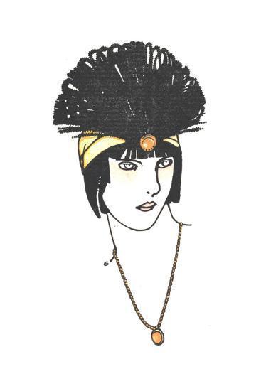 Vintage Feather Headpiece--Art Print