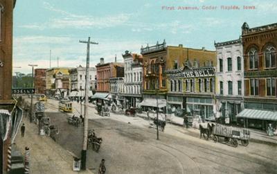 Vintage First Avenue, Cedar Rapids, Iowa