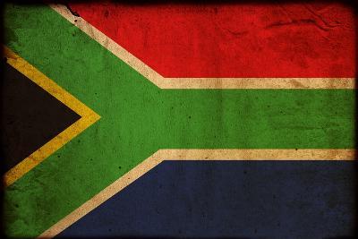 Vintage Flag Of South Africa-ilolab-Art Print