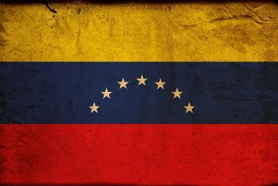 Vintage Flag Of Venezuela-ilolab-Art Print
