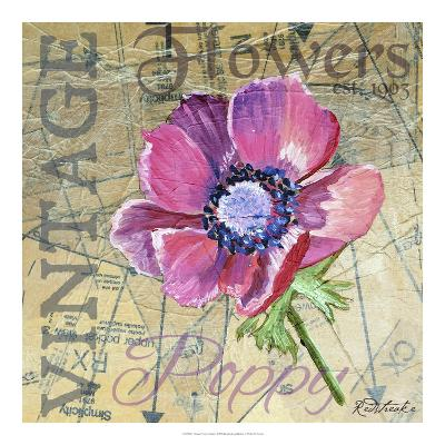 Vintage Flower Collage I-Redstreake-Art Print