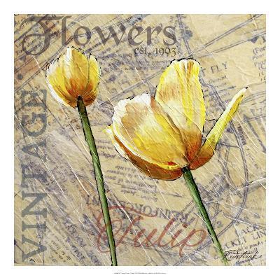 Vintage Flower Collage III-Redstreake-Art Print