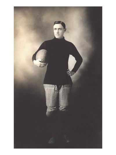 Vintage Football Player--Art Print