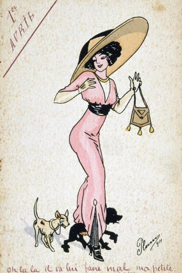 Vintage French Postcard, 20th Century--Giclee Print