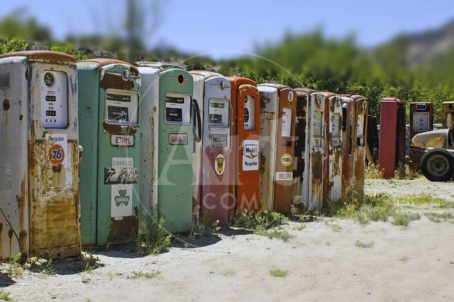 Vintage Gas Pumps Tilt Photographic Print by Toula Mavridou-Messer | Art com