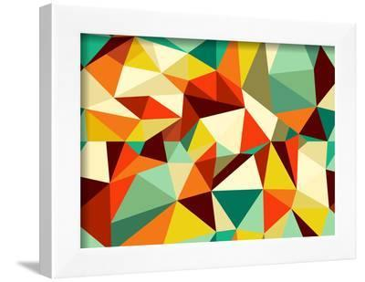 Vintage Geometric Pattern-cienpies-Framed Art Print