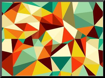 Vintage Geometric Pattern-cienpies-Mounted Print