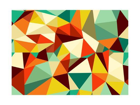 Vintage Geometric Pattern-cienpies-Art Print