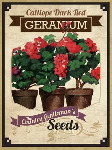 Vintage Geranium Seed Packet