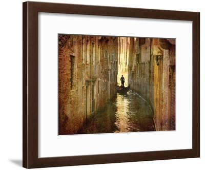 Vintage Gondolier-K. Nielsen-Framed Art Print