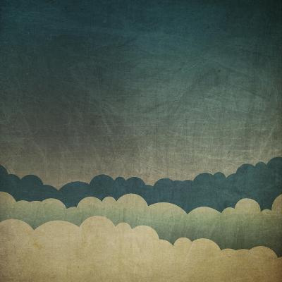 Vintage Grunge Sky Background-pashabo-Art Print