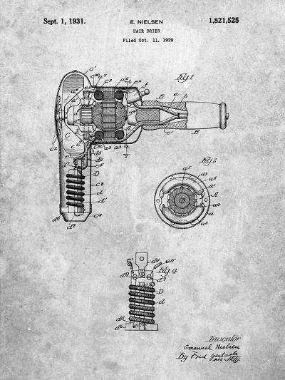 Vintage Hair Dryer Patent-Cole Borders-Art Print