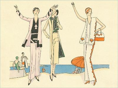Vintage Haute Couture Beach Wear--Art Print