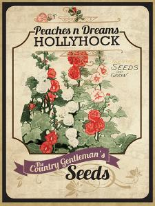Vintage Hollyhock Seed Packet