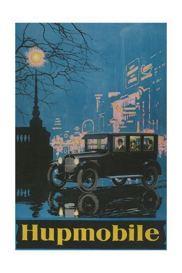 Vintage Hupmobile in City--Giclee Print