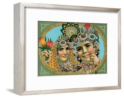 Vintage Indian Bazaar, Lord Krishna with Radha