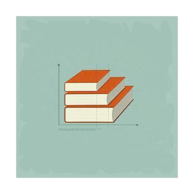 Vintage Infographics Books-elfivetrov-Art Print