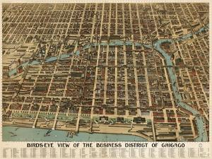 Birds Eye Chicago biz district-1898 by Vintage Lavoie