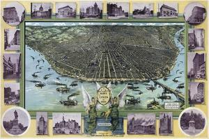 Birds Eye Map Of St Louis Mo 1896 by Vintage Lavoie