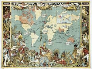 British Empire In 1886 by Vintage Lavoie