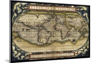 Cosmos Ortelius World Map 1570 by Vintage Lavoie