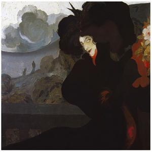 De Feure La Dame Au Chapeau Noir 1899 by Vintage Lavoie