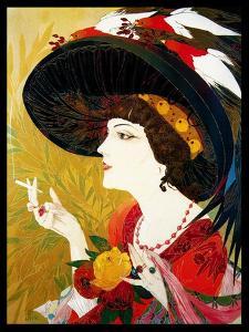 De Feure Smoking Woman IV by Vintage Lavoie