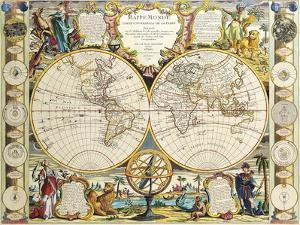French Map Of The World 1755 by Vintage Lavoie