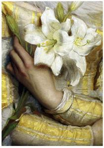 Lilies detail Gustav Pope 1895 by Vintage Lavoie
