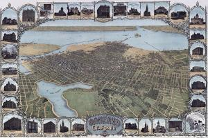 Map Of Oakland California1900 by Vintage Lavoie